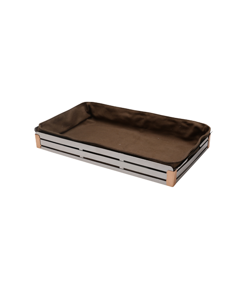 Crate Mirror Steel Copper Trim Bread Box with cloth liner