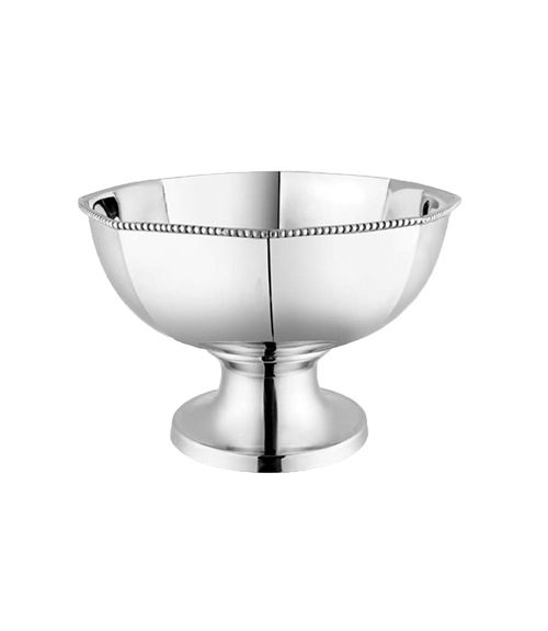 Bead Mirror Steel 3700 ml Round Pannel Serving Bowl