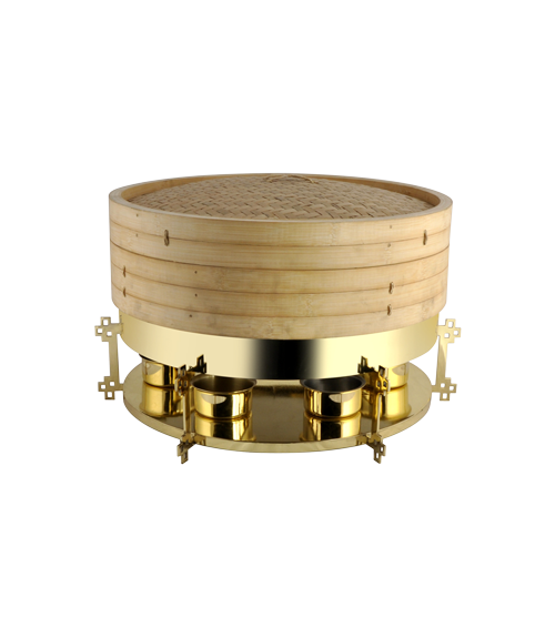 Gold Finish Stand for China Town Small Dimsum Steamer