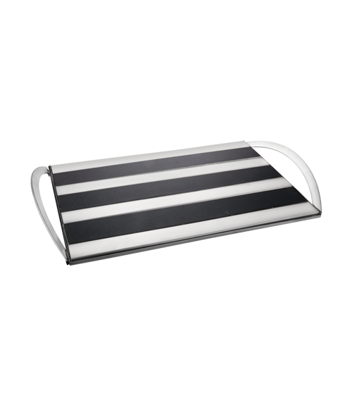 Hot Plate Brushed Steel Triple Plate Snack Warmer with Napkin Holder
