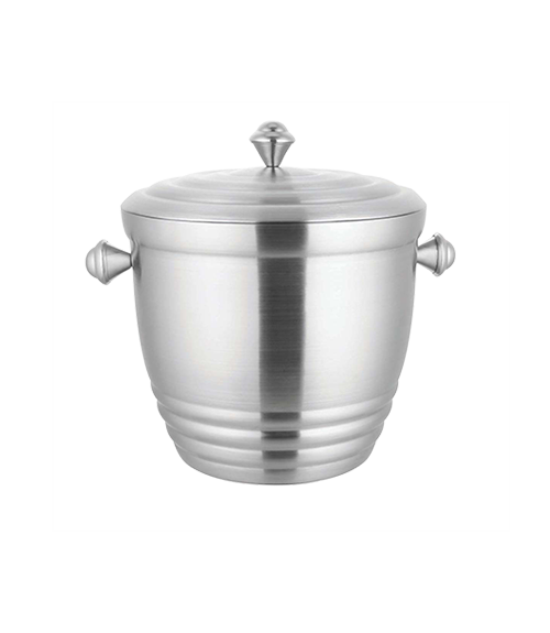 Wilcox Brushed Steel Insulated 3500 ml Round Ice Bucket with Lid