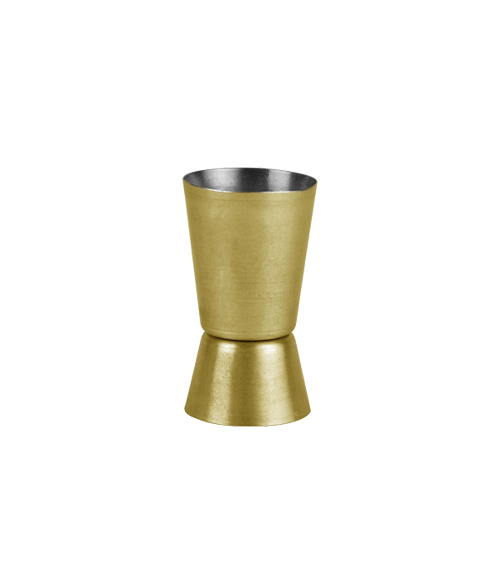 Vegas Vintage Gold Finish 25by50 ml Conical Jigger