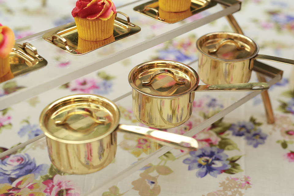 Mini Golden Sauce Pan