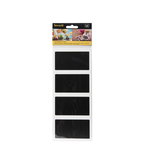 Rectangular Chalkboard Stickers Set of 8