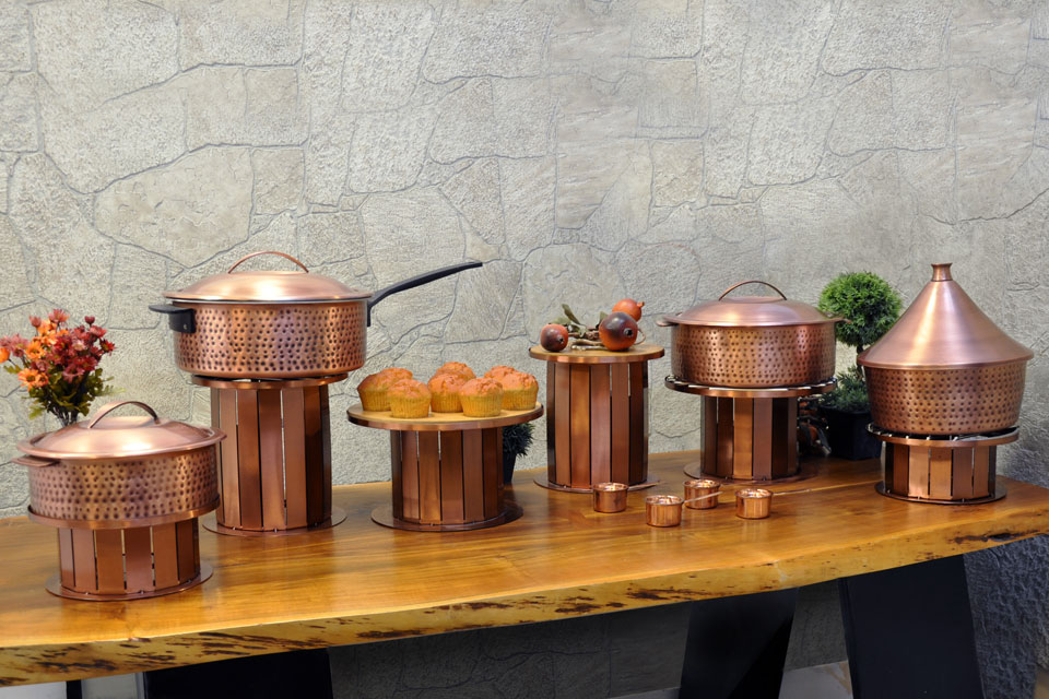 Rustic Copper Induction Buffet