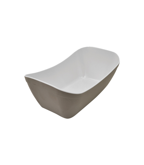 Stone White Matt Melamine 1by4 Verdura Crock