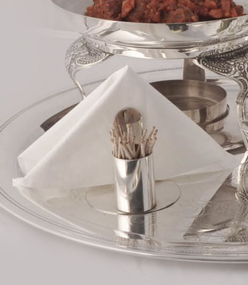 Mirror Steel Tooth Pick and Napkin Stand