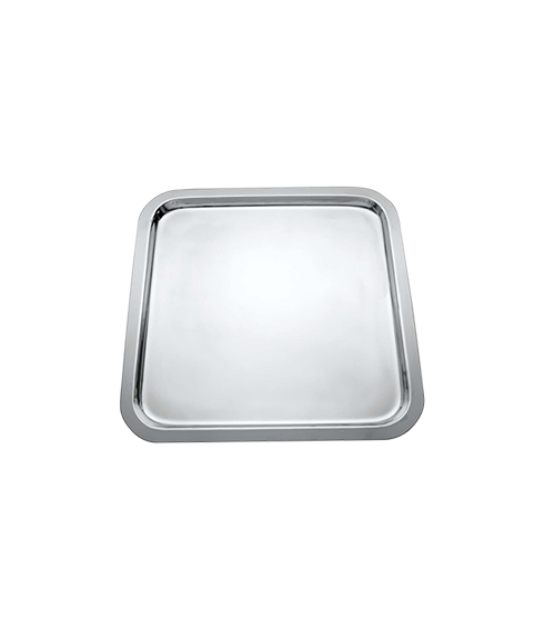 Basic Mirror Stainless Steel Square Tray