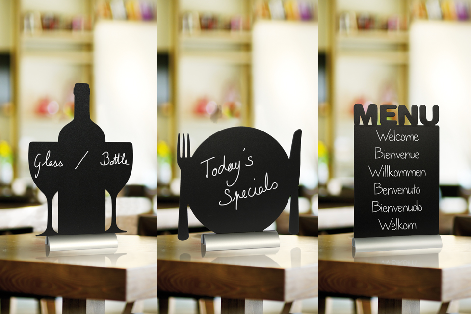 Securit Table Chalk Boards - Set Of 8