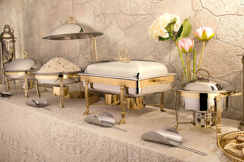 White Gold Buffet Concept